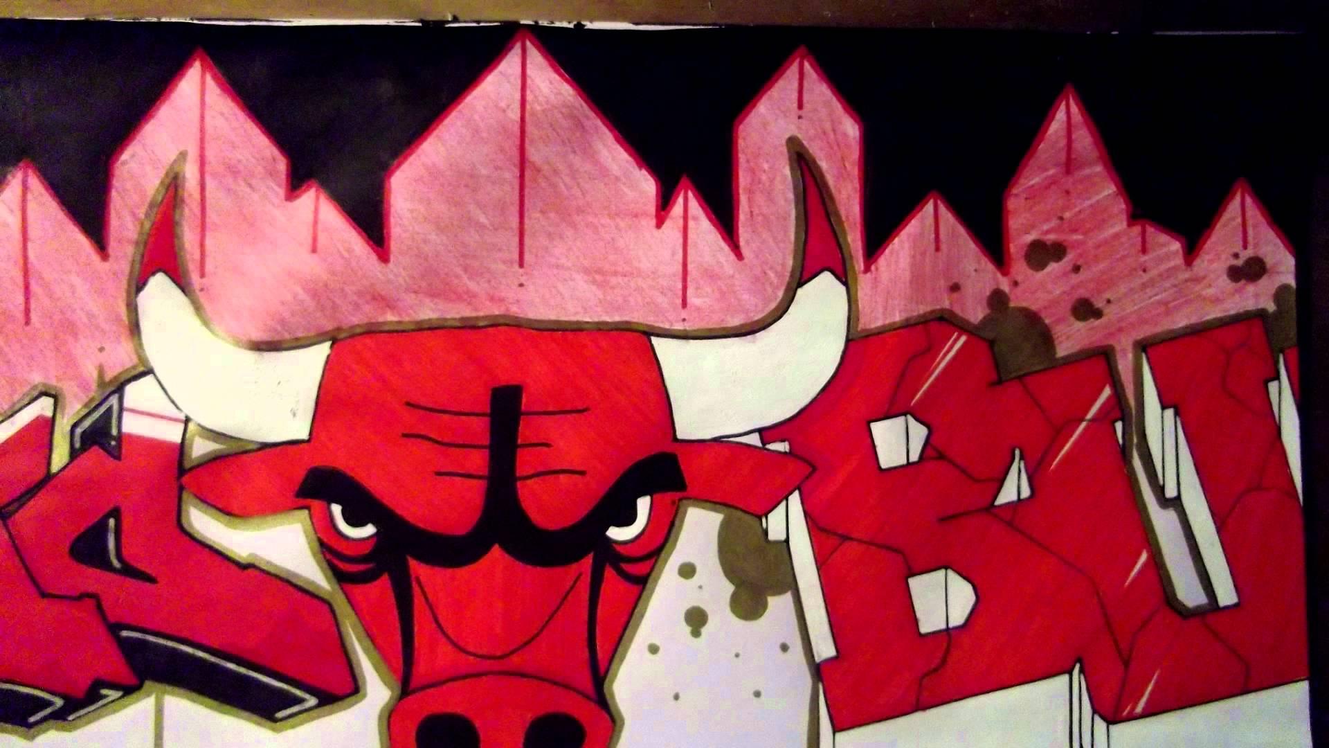 Drawn cattle graffiti #4