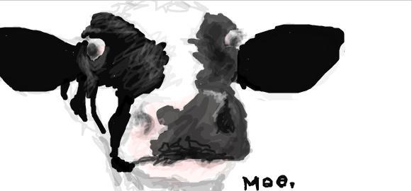 Drawn cattle graffiti #12