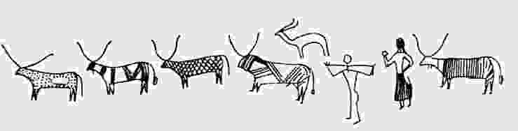 Drawn cattle graffiti #13