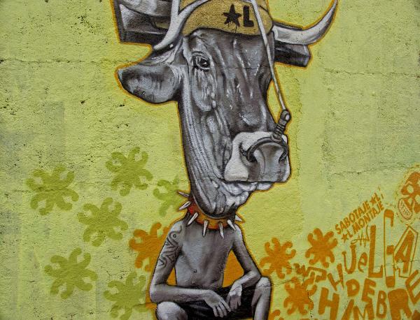 Drawn cattle graffiti #7