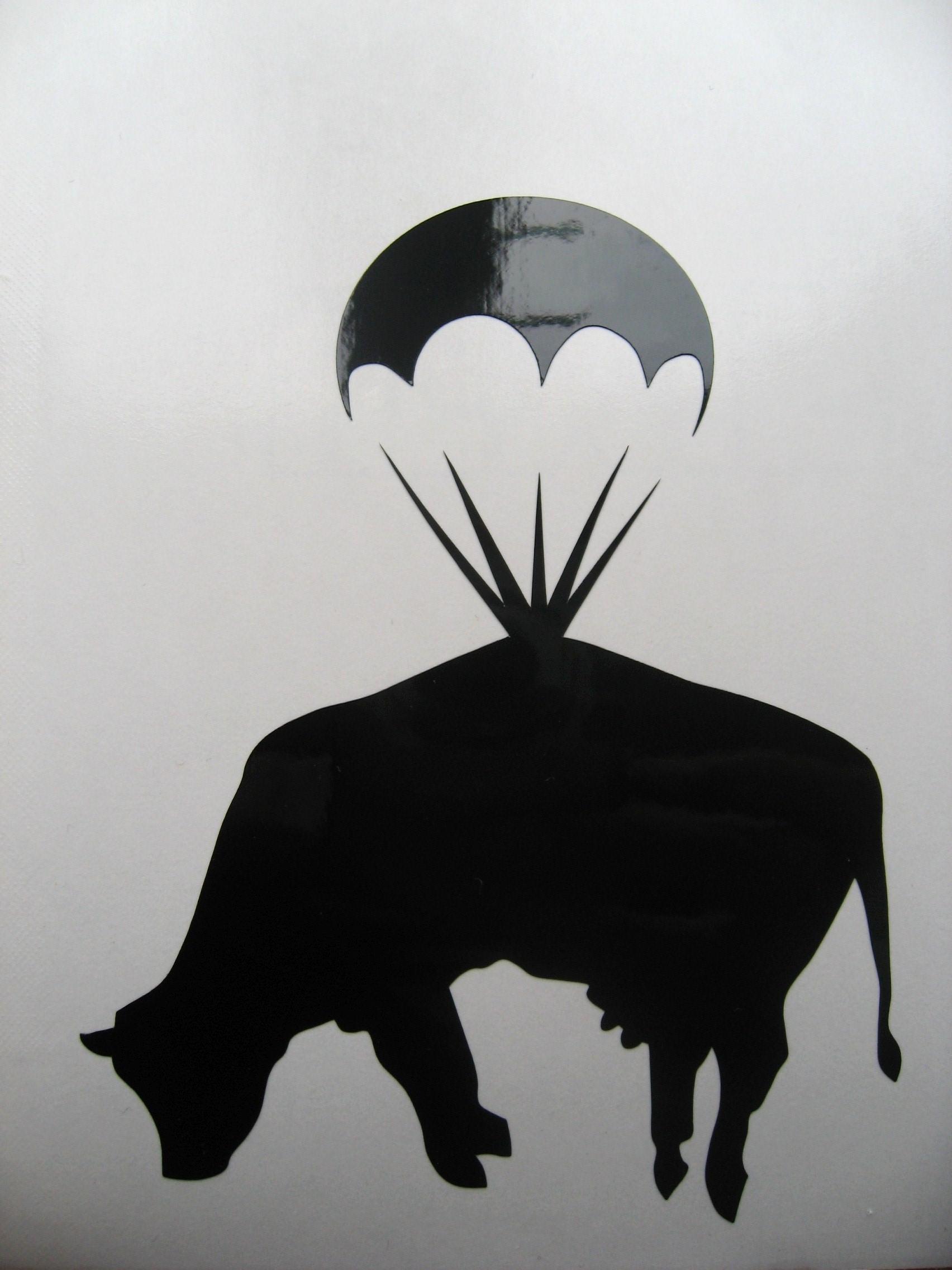 Drawn cattle graffiti #6