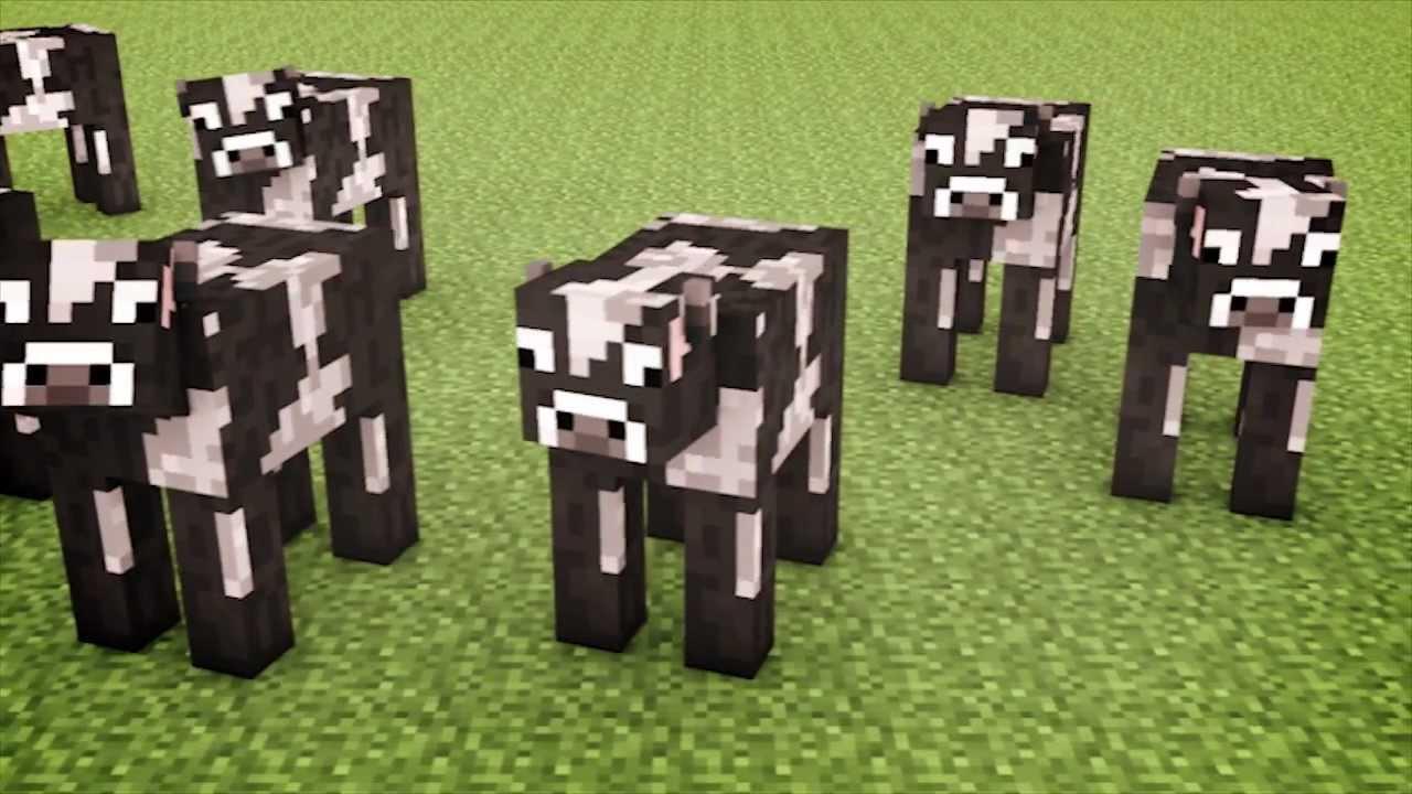 Drawn cattle minecraft cow #1