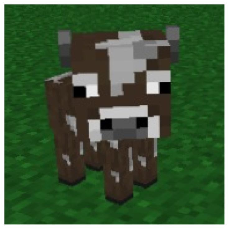 Drawn cattle minecraft cow #3