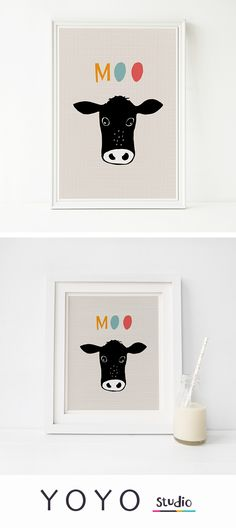 Drawn cattle printable #8