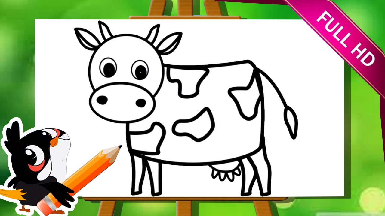 Drawn cattle small kid #5