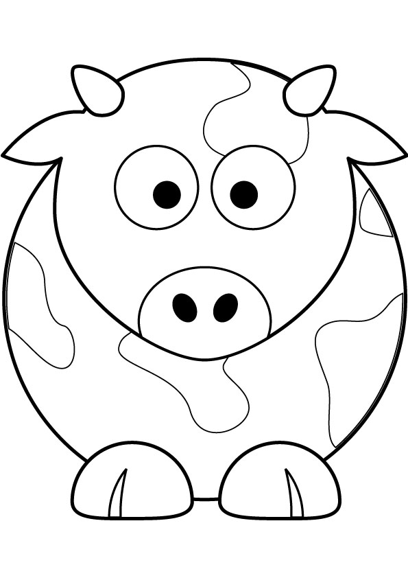 Drawn cattle small kid #15