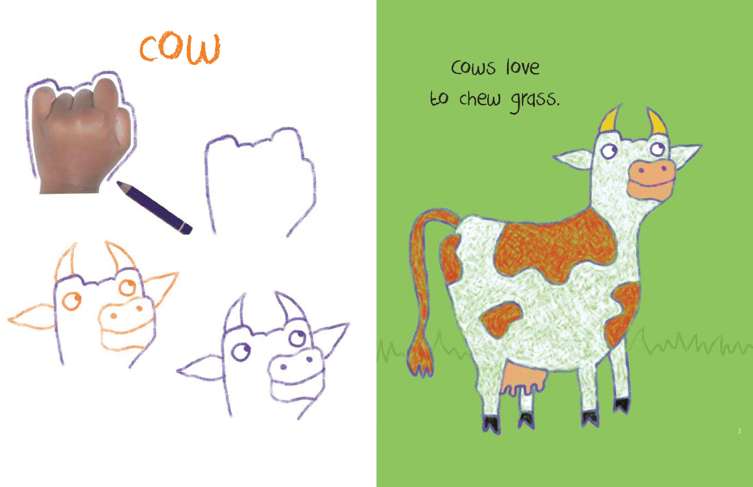 Drawn cattle trace & Animals by Trace Farm