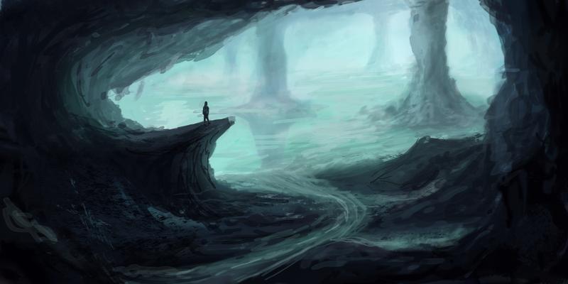 Drawn lake underground #14