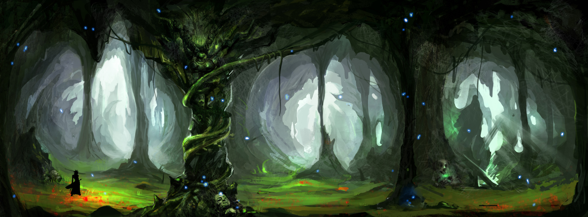 Drawn cavern 2d game background All even Unity3D African and