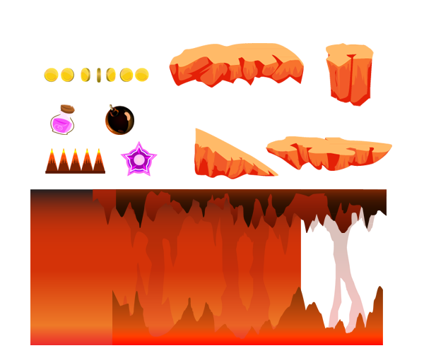 Drawn cavern 2d game background Art Art Background Cave Level