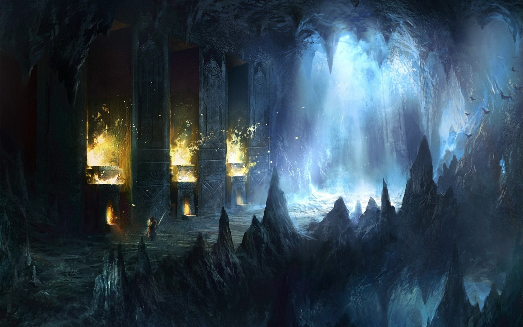 Drawn cavern 2d game background Com Ice Breathtaking @deviantART on
