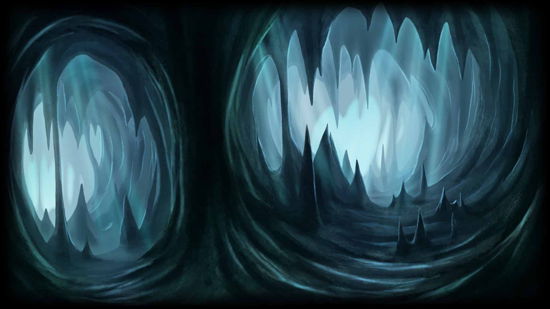 Drawn cavern 2d game background 2d Ref background background 2D