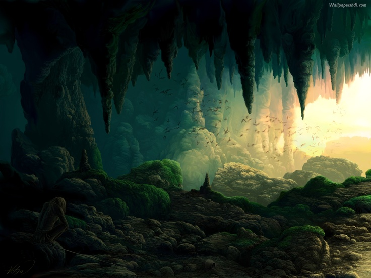 Drawn cavern 2d game background Hd Cave #274 drawing free