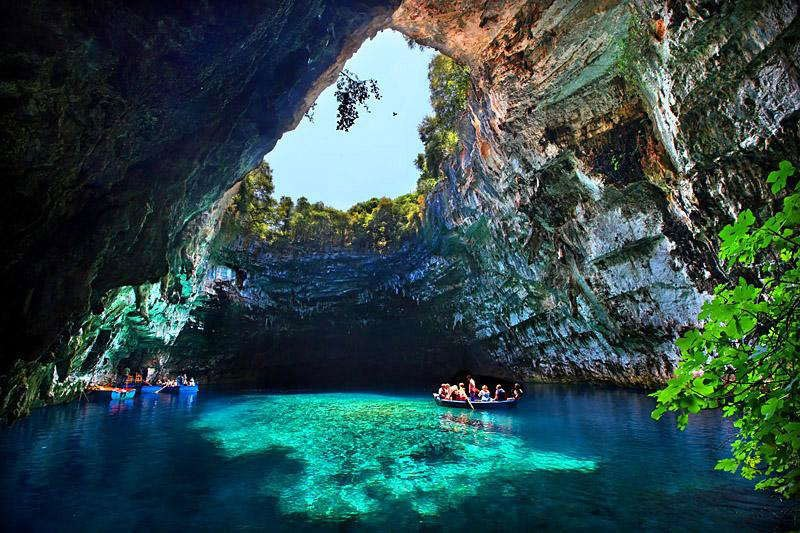 Drawn cavern breathtaking «TwistedSifter greece kefalonia Cave Greece