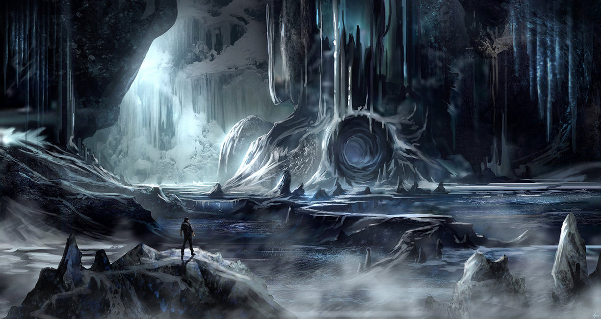 Drawn cavern dark cave Cave ice another BlueRogueVyse by