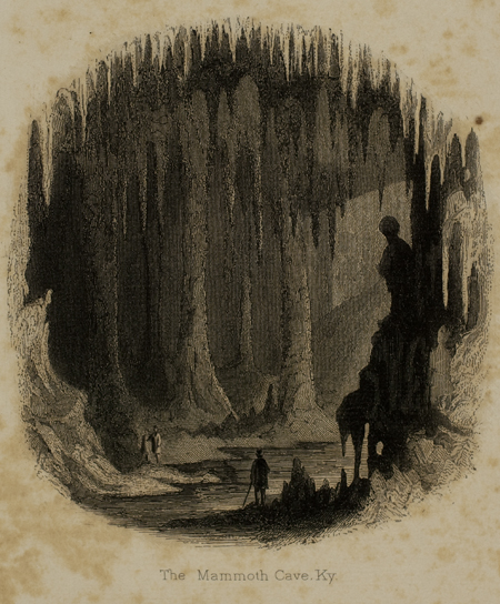 Drawn cavern dark cave From page the and