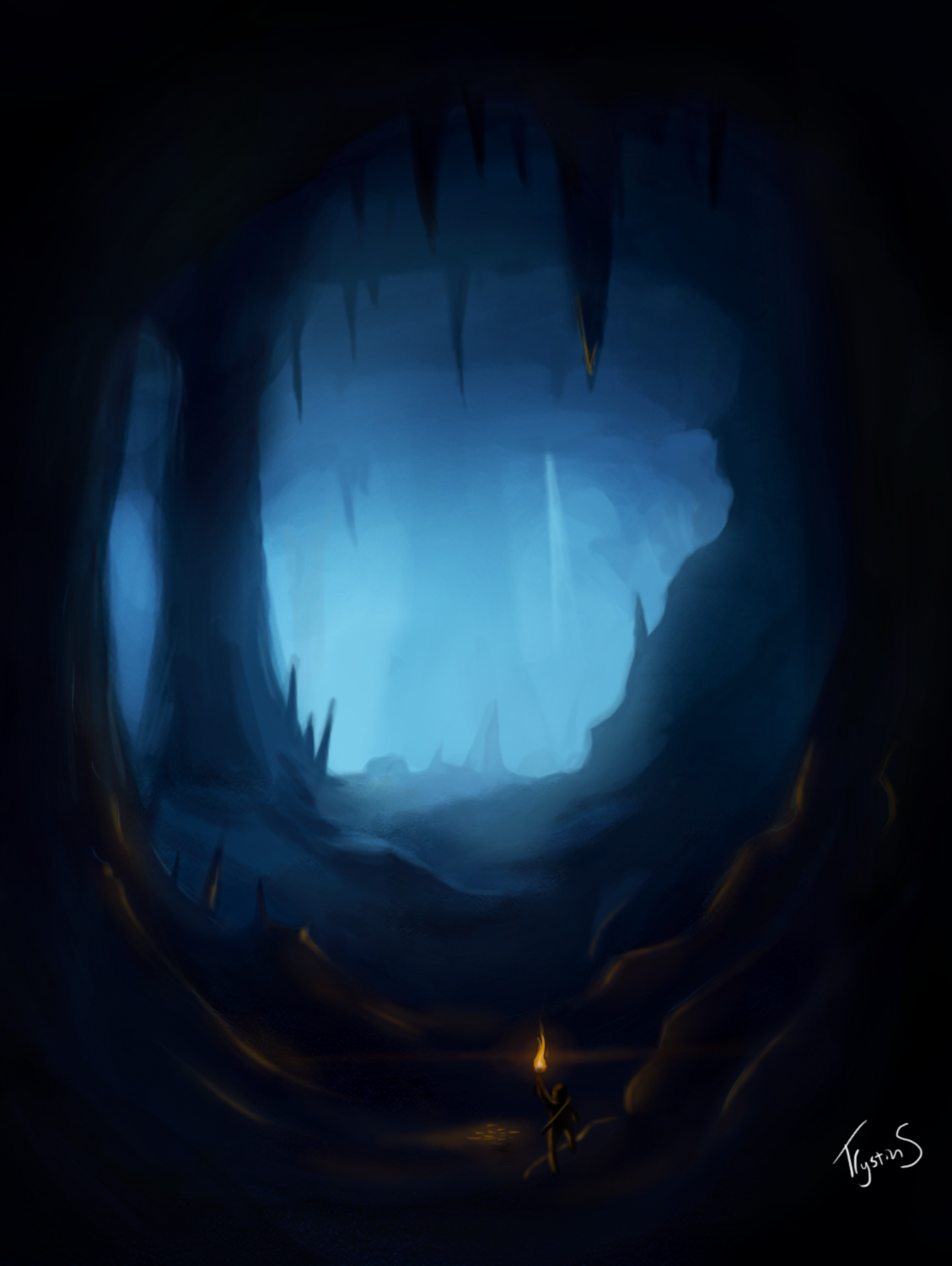 Drawn cavern dark cave Caption superstay's Provided No profile