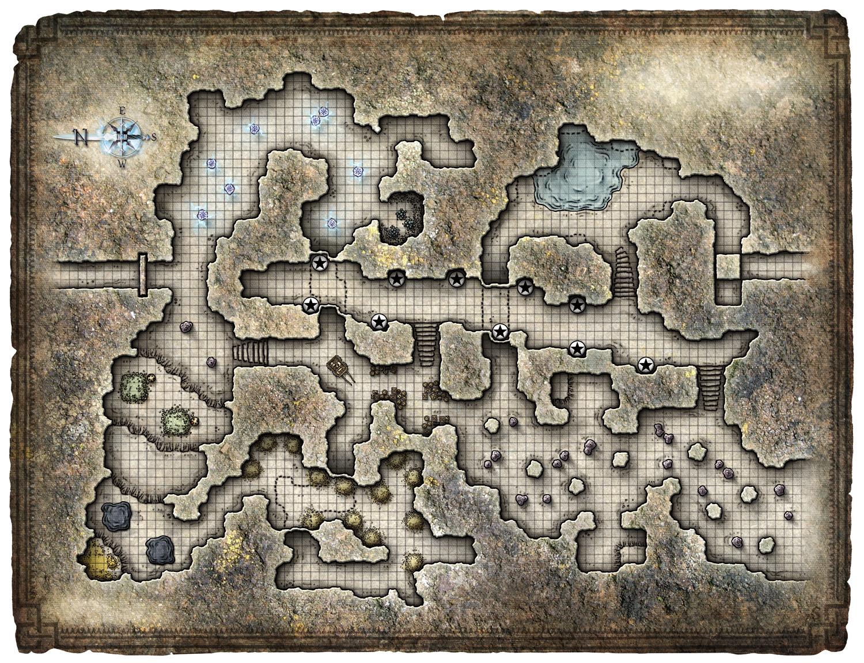 Drawn cavern dnd 11 hq Maps 11 mountain