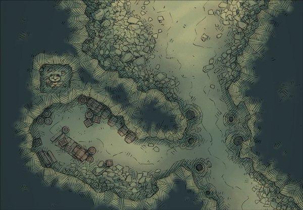 Drawn cavern dnd #gurps my Table drawn Cavern