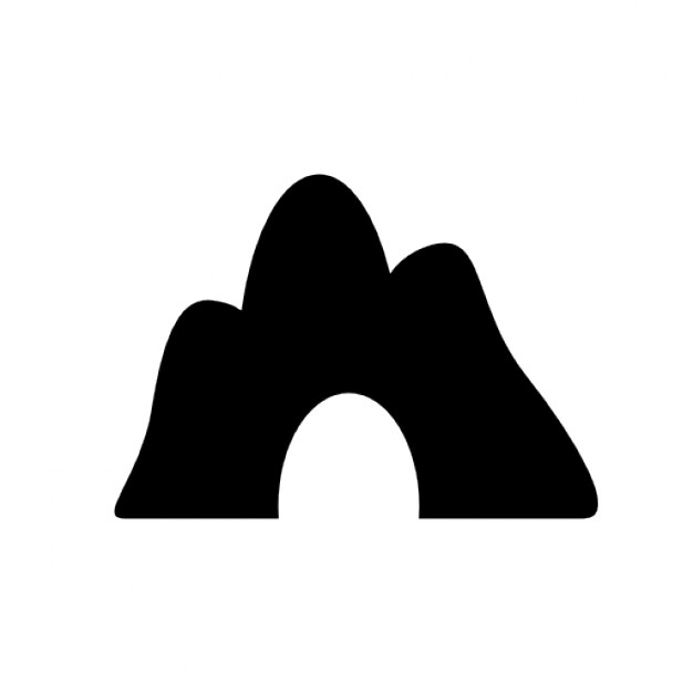 Cavern clipart mountain cave Icon Mountain Free Free Download