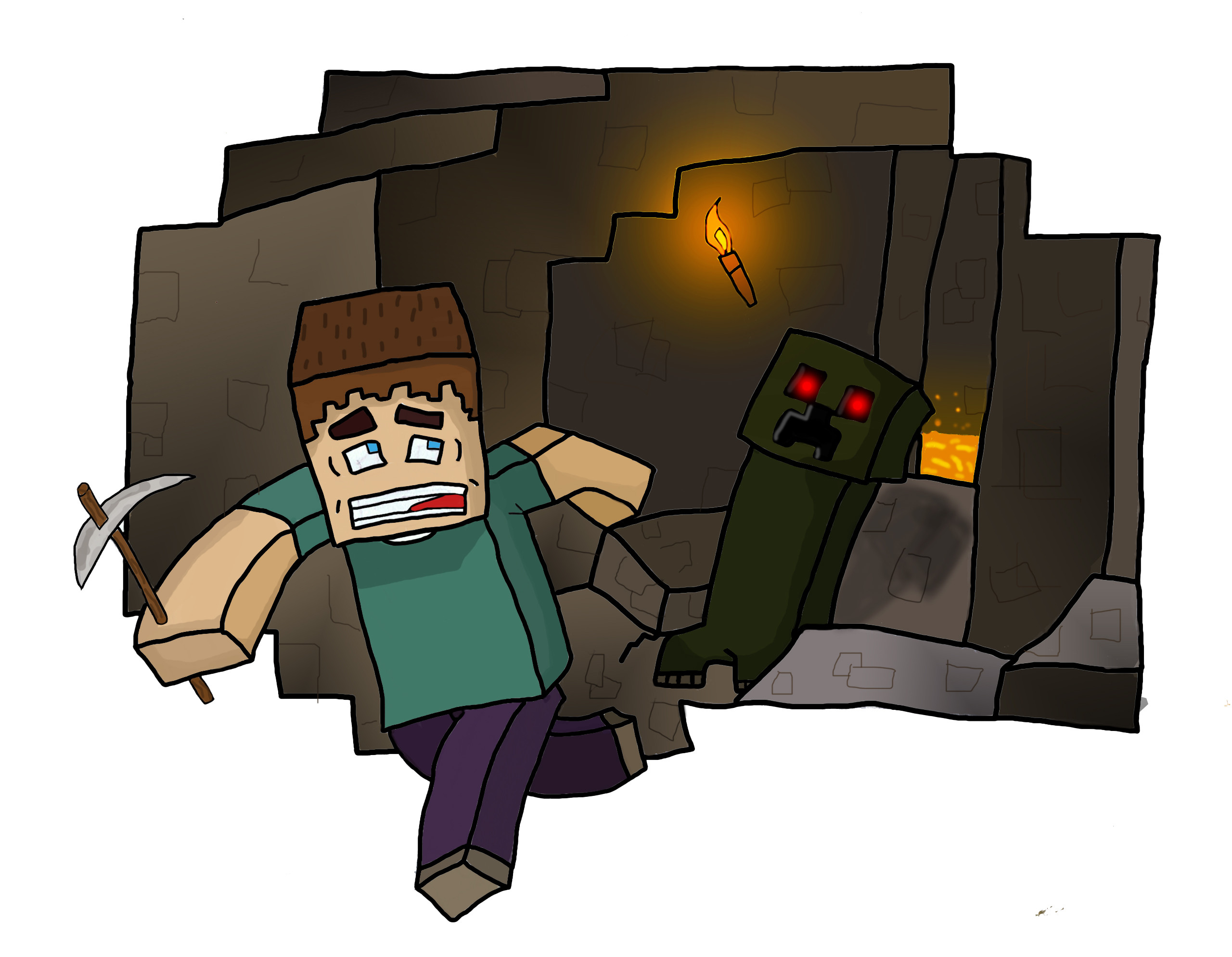 Drawn cavern minecraft View cave topic Minecraft drawing