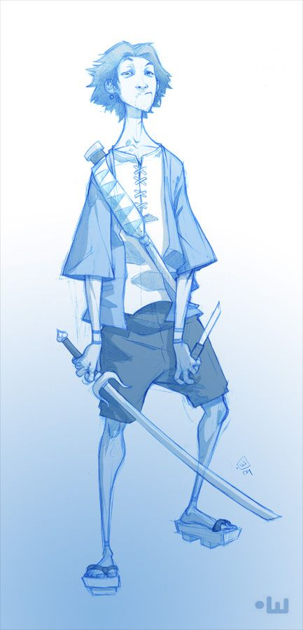 Drawn samurai knee On Samurai (Samurai t deviantART