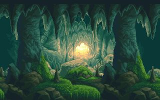 Drawn cavern pixel ❀ Ultionus 02 background 02