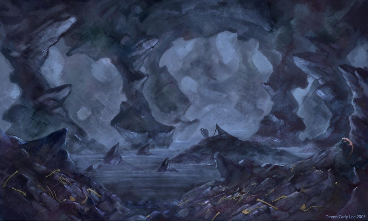 Drawn cavern smeagol By  Gorrem Gorrem LOTRO: