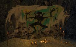 Drawn cavern smeagol Gollum's Cave hallway A in
