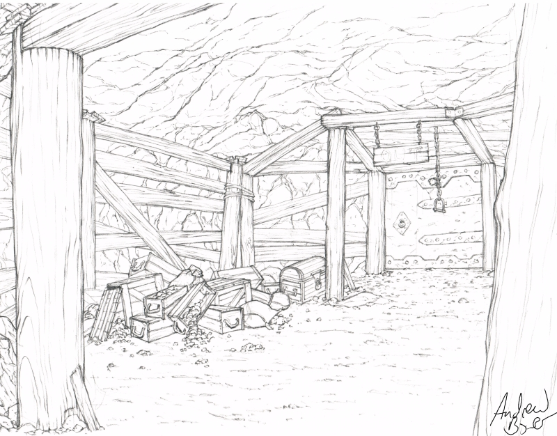 Drawn cavern stage On drawing over stage the