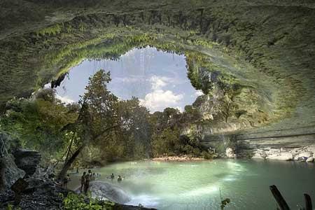 Drawn cavern subterranean Erosion due created of natural
