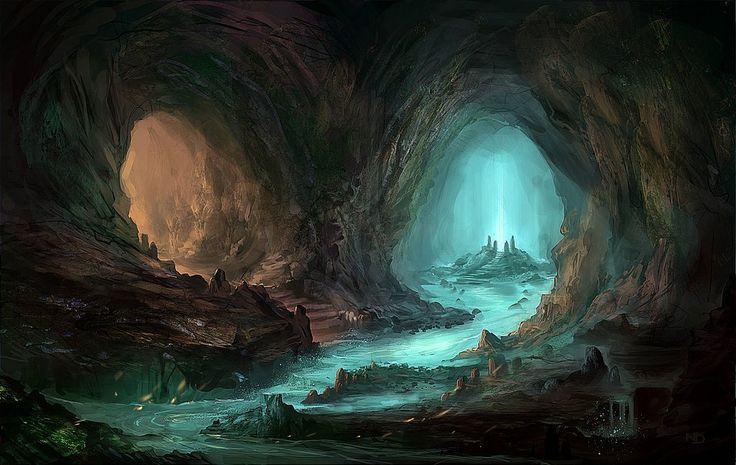 Drawn cavern subterranean – ideas Fantasy One: Caves