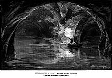 Drawn cavern subterranean With of line Wikipedia a