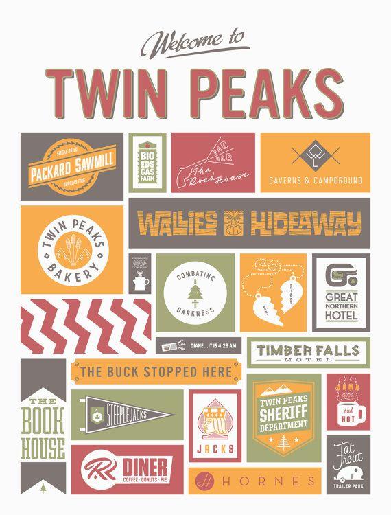 Drawn cavern twin peaks Logos Peaks ans Twin Pinterest