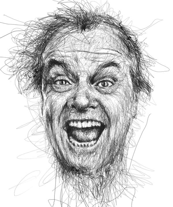 Drawn celebrity Famous Celebrity portraits Pen Movie