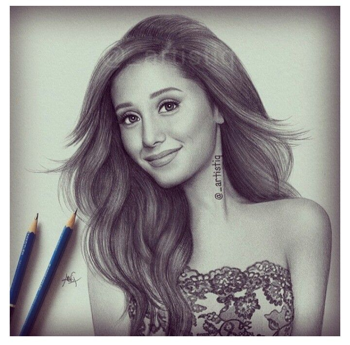 Drawn portrait old english Art ariana grande Celebrity Drawings
