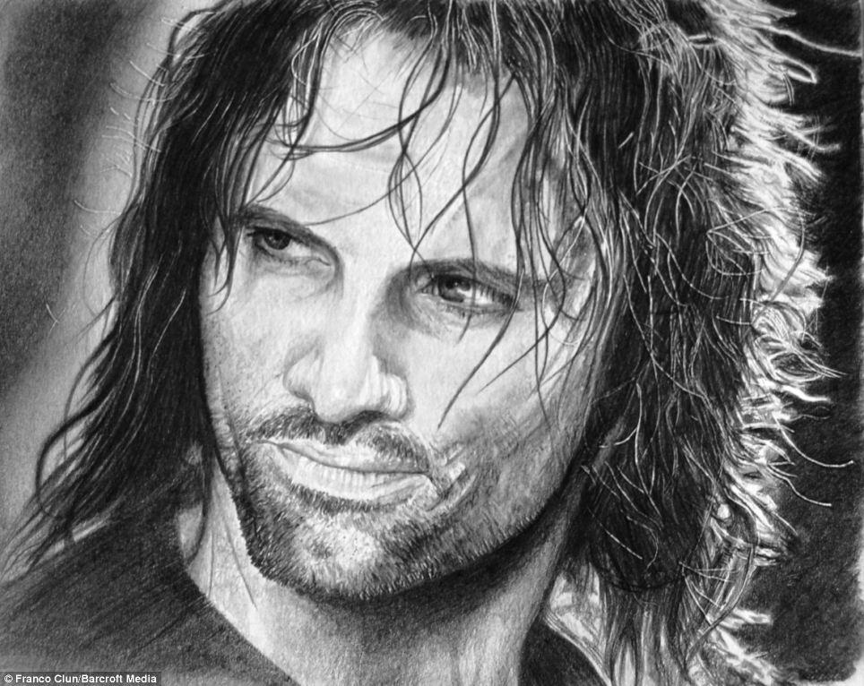 Drawn portrait bollywood Aragorn Incredibly like: the most