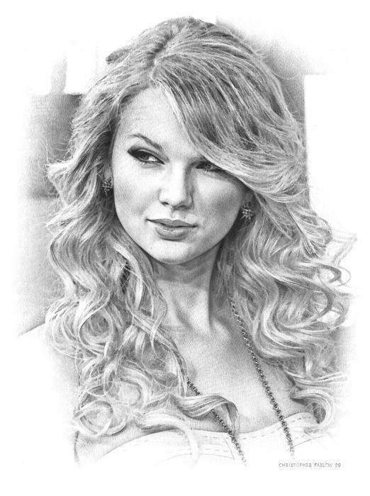 Drawn celebrity black and white #8