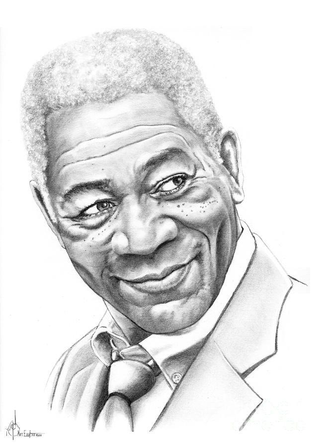 Drawn celebrity black and white #6