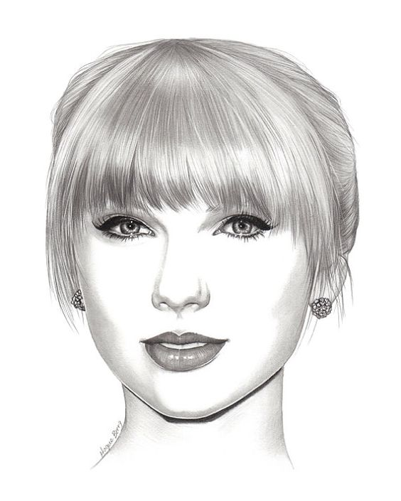 Drawn celebrity black and white #5