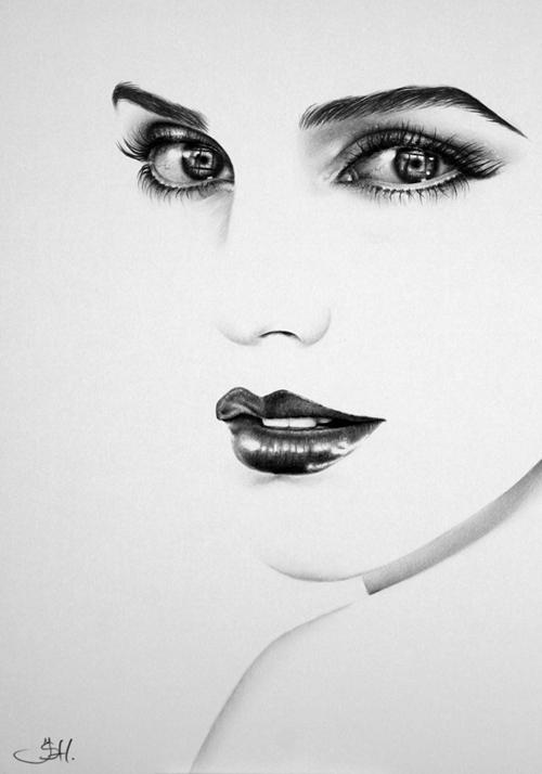 Drawn celebrity black and white #10