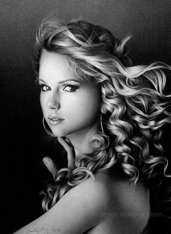 Drawn celebrity black and white #14