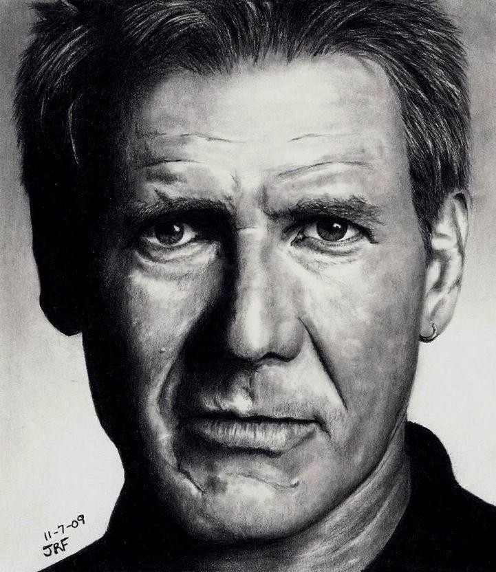 Drawn celebrity black and white #7