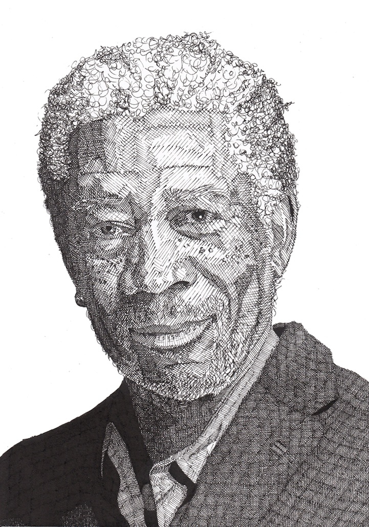 Drawn celebrity black and white #9