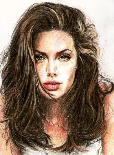 Drawn portrait color On Pinterest girls portraits colored