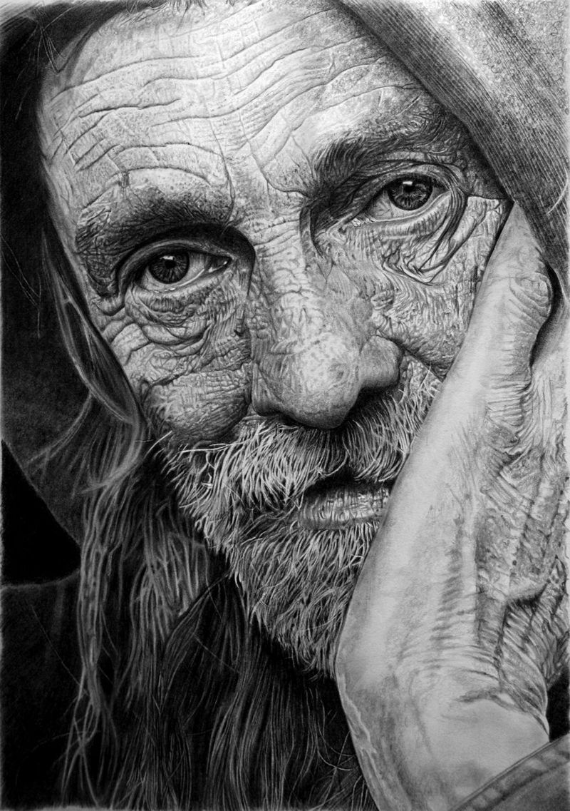 Drawn portrait man's face Amazing Work Pinterest Drawing Man