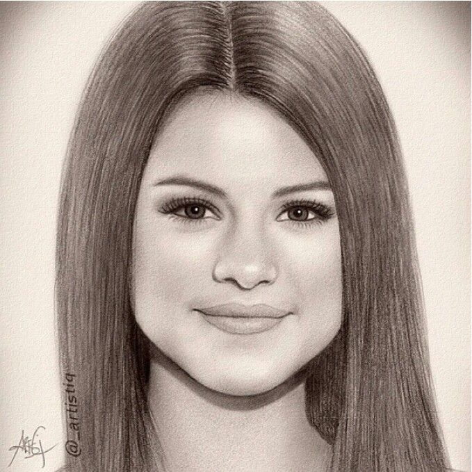 Drawn portrait selena gomez Best Pinterest drawing 18 Gomez