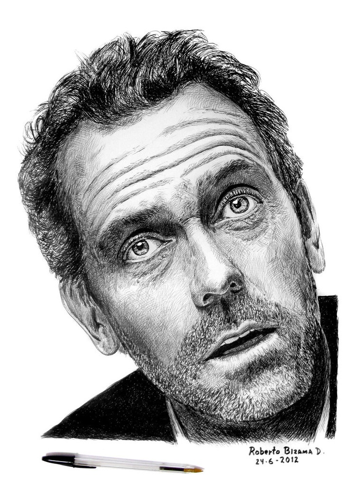 Drawn portrait cross hatching This Pin Drawing Find on
