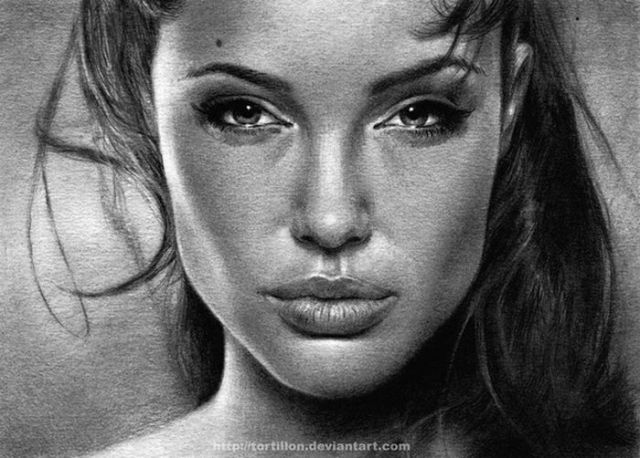 Drawn portrait famous celebrity Drawn and more on Celebs