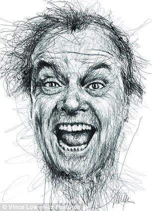 Drawn portrait famous artist Dyslexia dyslexics Jack Vince scribble